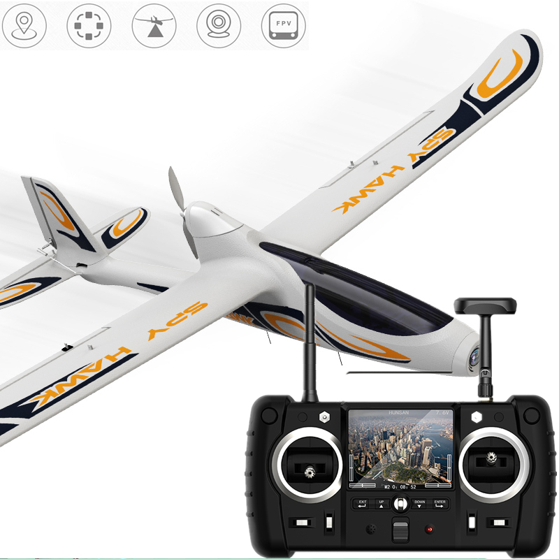Hubsan H301S SPY HAWK 1080P 5.8G FPV 4CH RC Fixed-wing Glider Airplane RTF With GPS Module Brushless Motor fpv x uav talon uav 1720mm fpv plane gray white version flying glider epo modle rc model airplane