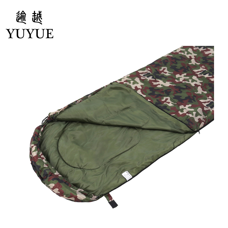 Outdoor military 3 season camouflage sleeping bag cotton for camping tent envelope type equipment for a hundred sleeping bag 1