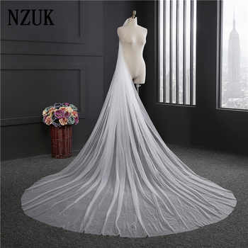 Elegant Wedding Accessories 3 Meters 1 Layer Wedding Veil White Ivory Simple Bridal Veil With Comb Wedding Veil Hot Sale - DISCOUNT ITEM  5% OFF All Category