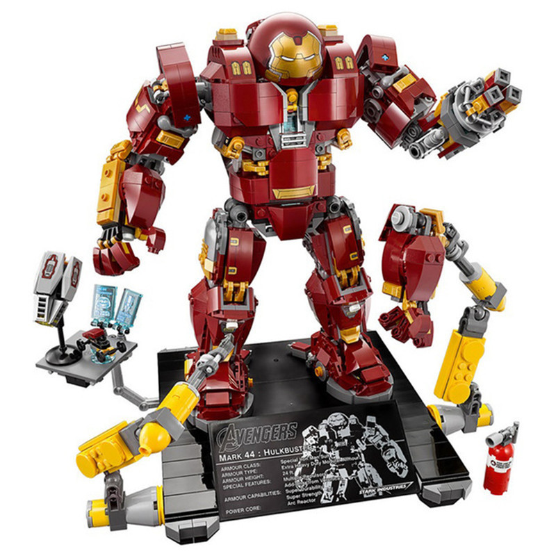 Marveled Super Heroes Series Diy Building Block Avengersed Hulkbuster Model Toys for Boys Compatible With Legoingly 76105 цена