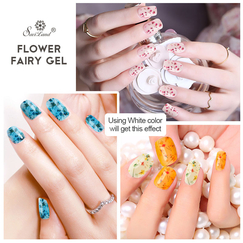 Aliexpress Saviland Flower Fairy Series Uv Gel Lak Natural Dry Flowers Nail Polish Soak Off White Painting Varnish From