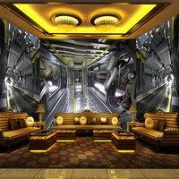 Custom Photo Wall Mural 3D Stereoscopic Wallpaper For Living Room KTV Bar Space Capsule Background Decor