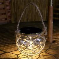 led outdoor solar hanging lights rope woven lights Tingyuan Deng table lamp hanging lamp