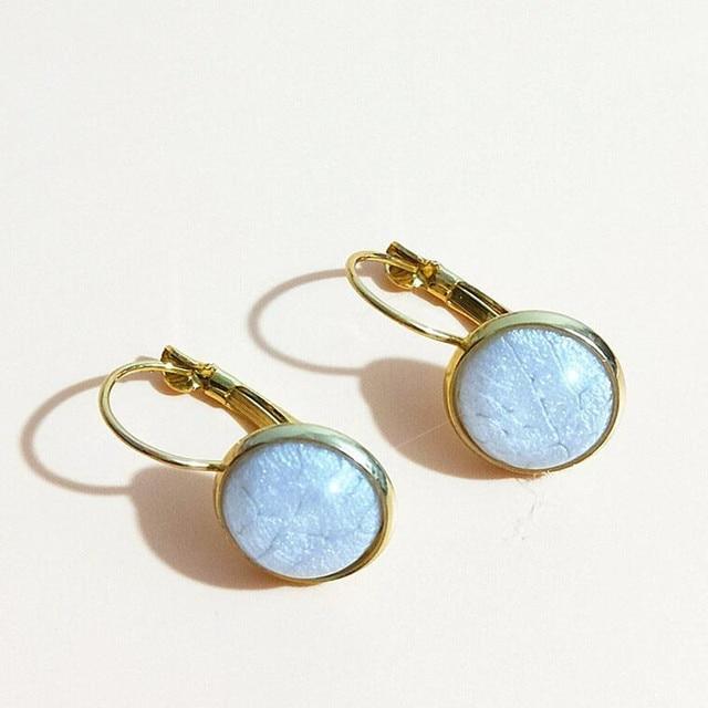 2018 new Fashion Earrings Jewelry Trendy druzy Austrian Crystal Opal stud Earrings Wedding For Women Gift minimalist Earring