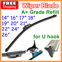 "Car Frameless Wiper Blade Natural Rubber Bracketless Auto Soft Windshield 14"" 16"" 17"" 18"" 19"" 20"" 21"" 22"" 24"" 26"""
