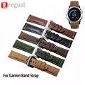 Pulseira pulseira de couro do falso do vintage genuíno relógio de pulso 26mm substituição para garmin fenix 3 smart watch banda cintas
