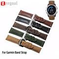 Vintage Faux Leather Strap Watchband Genuine Wrist Watch 26MM Replacement For Garmin Fenix 3 Smart Watch Band Straps
