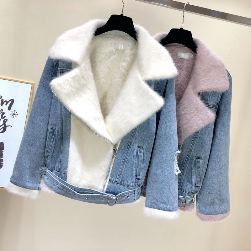 Denim Veste Femmes Hit Couleur Manches Longues Manteaux Mode Féminine de Style Coréen 2018 Automne Veste Femmes Harajuku Femmes Vêtements