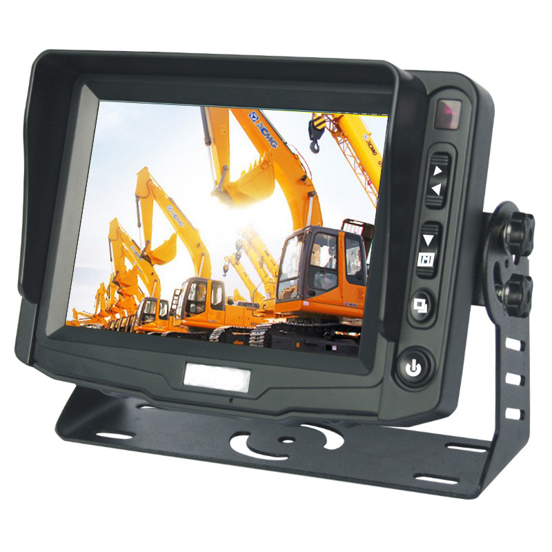5inch Digital Screen Rear View Monitor with OSD Menu Removable Sun Visor Aviation Cable Connector for 2ch Video & Audio Inputs5inch Digital Screen Rear View Monitor with OSD Menu Removable Sun Visor Aviation Cable Connector for 2ch Video & Audio Inputs