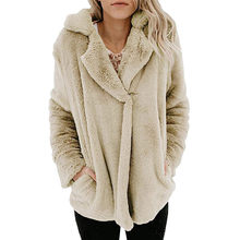 Hoodies For Women Autumn And Winter Casual Pocket Long Sleeve Pullover Open Front Plush Sweater Jacket Coat Dropship L#13(China)