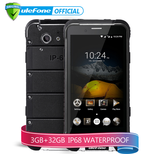 Ulefone ARMOR Mobile Phone 4.7 inch HD MTK6753 Octa Core Android 6.0 3GB RAM 32GB ROM 13MP OTA 4G Waterproof IP68 Smartphone
