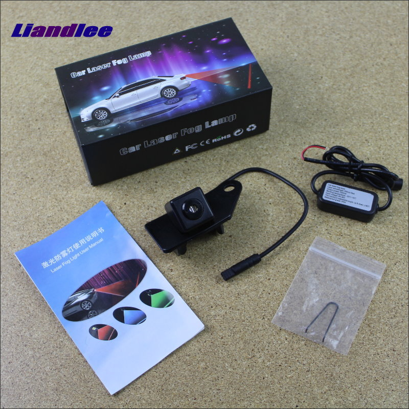 Liandlee For Mitsubishi ASX / RVR 2010~2015 Car Lamp Prevent Rear-end Collision Warning Laser Light Haze Rain Fog Snow Lights for buick encore opel mokka 2012 2014 car rain lamp super bright special laser beam rear end collision warning light page href