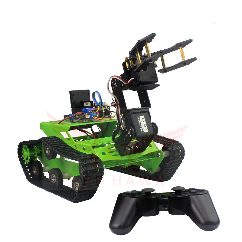 Crawler robot intelligent car kit finished / intelligent EOD handling / handle and mobile phone remote control post harvest handling and processing of mango