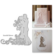 Eastshape 86*85mm Wedding Couple Metal Cutting Dies Scrapbooking Valentine for Embossing Card Making Craft Stencil New 2019