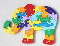 New wooden toy Animal Finger Elephant  Puzzle Baby toy Free shipping