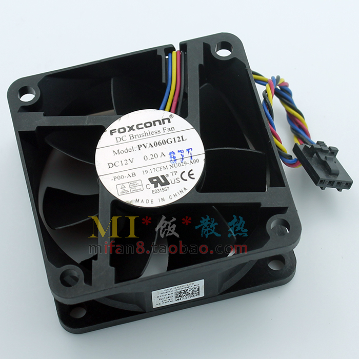 Free Shipping For FOXCONN PVA060G12L -P00-AB DC 12V 0.20A 4-wire 4-pin connector 80mm 60x60x25mm Server Square Cooling fan