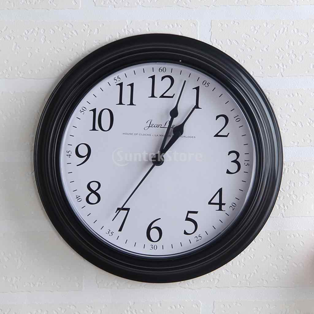 Reloj redondo de cuarzo-Reloj de pared para sala de estar, dormitorio, cocina-22 cm amarillo/rojo/Negro/blanco