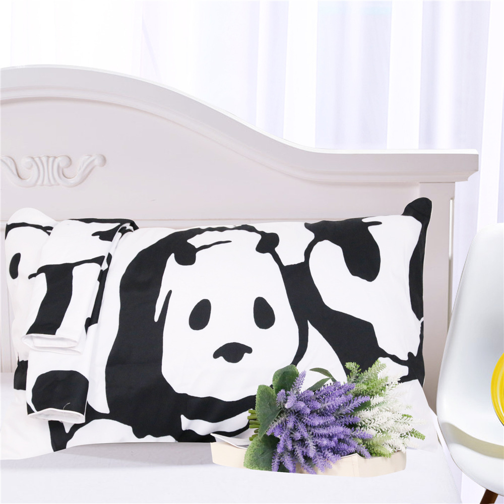 Image 4 - CAMMITEVER Panda Bedding Set Duvet Cover With Pillowcases Animal Home Textiles 3pcs Bedclothes-in Bedding Sets from Home & Garden