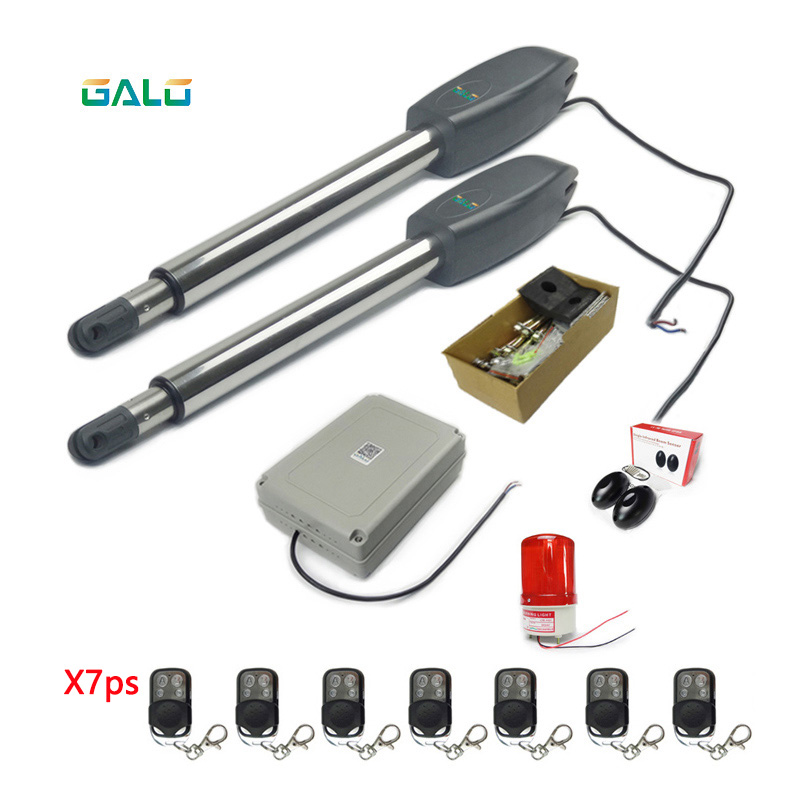 Wireless remote control Heavy-Duty Dual Automatic Gate Opener Kit for Swing Gate keyshare dual bulb night vision led light kit for remote control drones