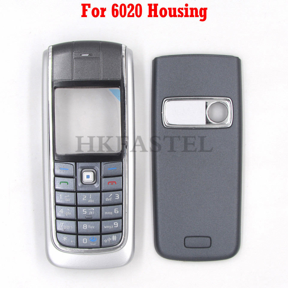 HKFASTEL New Housing Keyboard For Nokia 6020 Front LCD Display Frame Cover Back Battery Case Chinese / Russian/ Hebrew Keypad