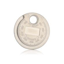 1 sztuk świeca zapłonowa Gap narzędzie pomiarowe kaliber narzędzie pomiarowe waluta typu 0.6 2.4mm zakres świeca zapłonowa Gage Gap narzędzie Feeler