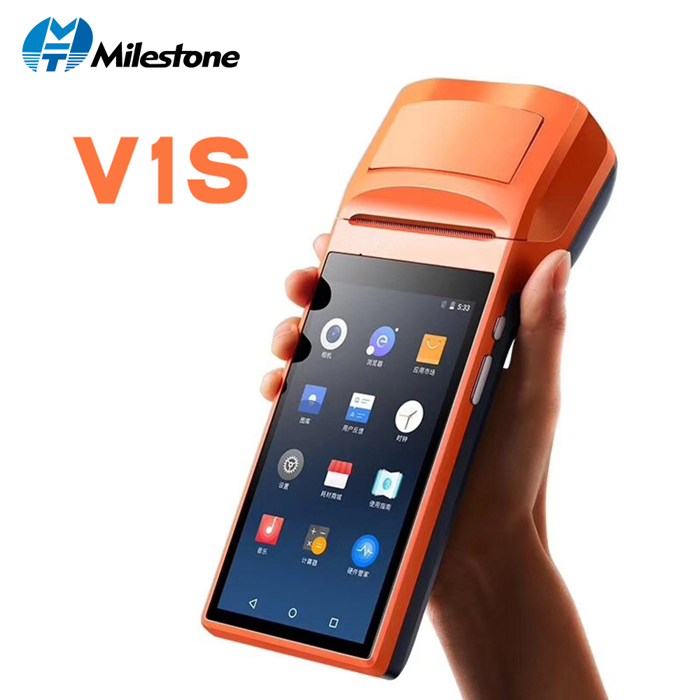 Milestone thermal Printer receipt bill Touch Screen Bluetooth WIFI GPRS POS Machine USB SM Android portable