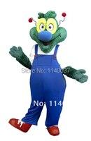 Mascotte Professionale Personalizzata Blu Cappotto Drago Verde Dinosauro Adulto Del Costume Della Mascotte