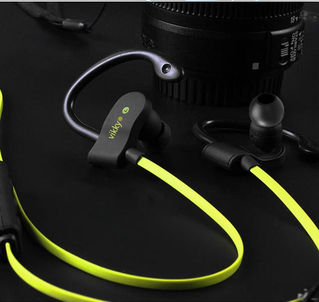Vikky 2016 s6 auriculares auriculares auricular auricular bluetooth inalámbrico estéreo deportes ganchos para la oreja con micrófono para iphone 7 pad