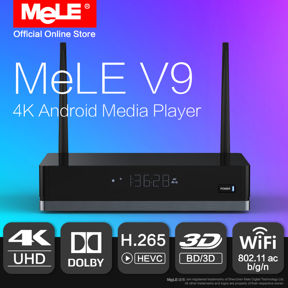MeLE V9 Android 6.0 Mini PC TV Box HDMI Media Player 4K HDR Realtek RTD1295 2GB 16GB 802.11ac WiFi 1000M Ethernet Dolby Kodi медиаплеер merlin 4k android media hub