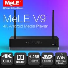 MELE V9 Android 6.0 Мини-ПК ТВ Box HDMI медиаплеер 4 К HDR Realtek rtd1295 2 ГБ 16 ГБ 802.11ac wi-Fi 1000 м Ethernet Dolby Коди