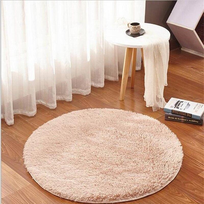 Tapis rond moelleux de mousse de 160 cm/63.04 pouces tapis antidérapant de chambre à coucher de douche tapis de Fitness de Yoga pour des adultes et des enfants 8 couleurs disponibles