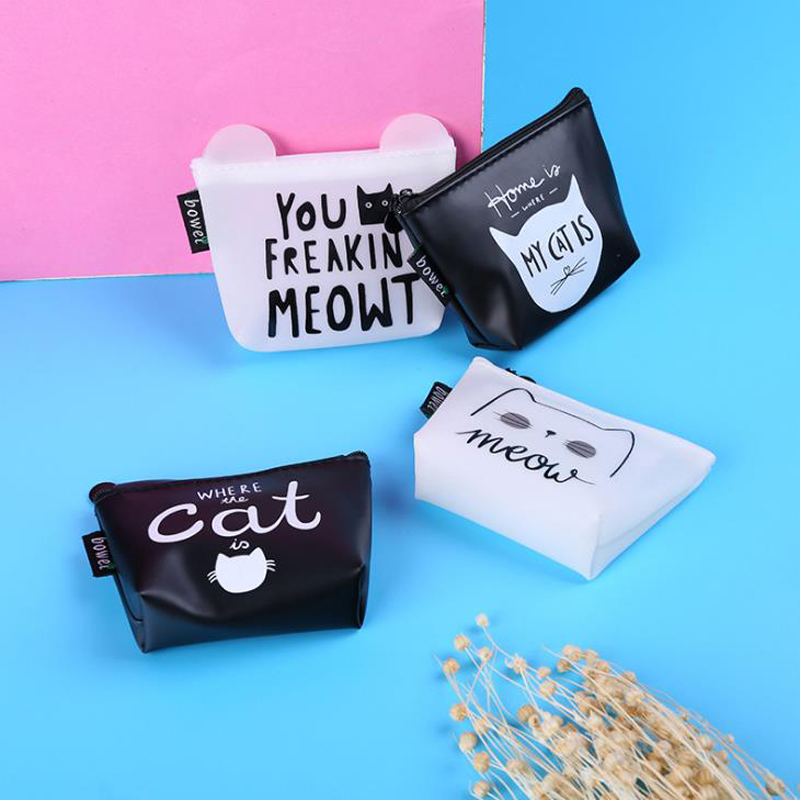 Card Holder & Note Holder Genteel 1 Pcs Cartoon Animal Cat Meow Coin-purses Women Mini Change-wallets Money Earphone Bag Coin Bag Stationery Card Holders Gifts To Make One Feel At Ease And Energetic