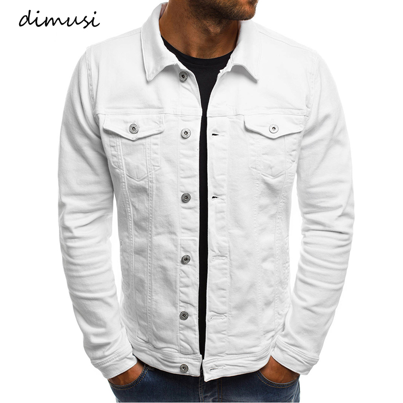 DIMUSI Spring Mens Denim Jacket Fashion Male Jeans Jackets Slim Fit Casual Streetwear Vintage Men Jean Outwear Clothing.TA325