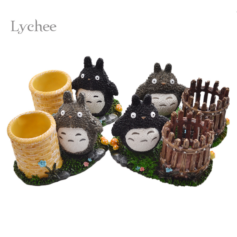 Lychee Life Lychee 1 Piece DIY Kawaii Totoro Resin Crafts Home Decoration Crafts Random
