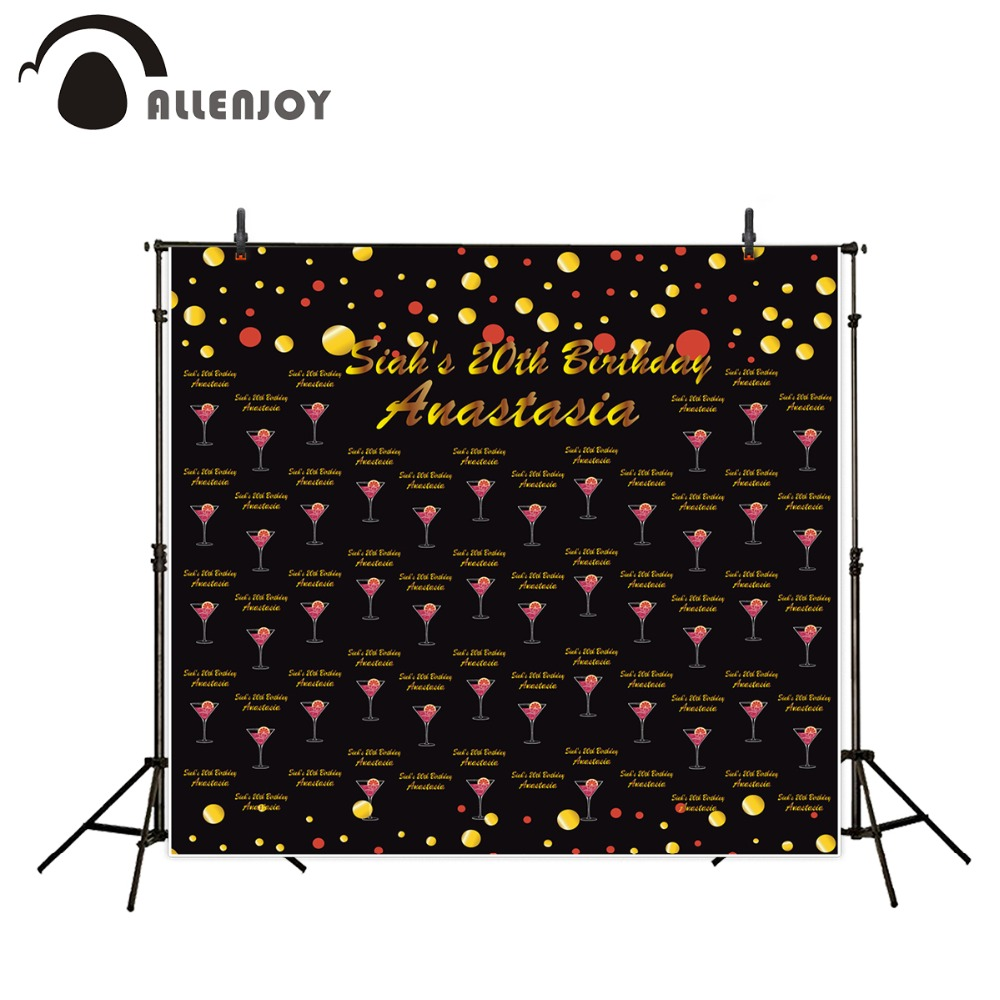 Allenjoy Background Photography custom birthday party gold black cocktails DIY personal design backdrops birthday present simple wave photography backdrops 3x5ft newborn boy birthday photography background custom made fotografia