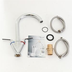 Image 5 - Xueqin robinets à Double poignée mélangeur monté sur le pont