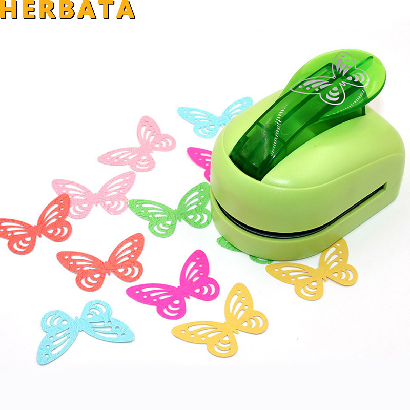 Free Shipping Big Size Butterfly Shaped Paper/Foam Hole Puncher For Greet Card Handmade DIY Scrapbook Petal Craft Punch Machine