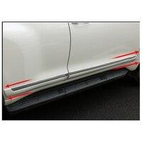 Подходит для Toyota Land Cruiser Prado FJ150 2010 2011 2012 2013 2014 2015 2016 ABS Chrome Боковая дверь средства ухода за кожей рельефные накладки детали отделки 4 шт.
