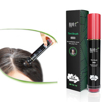 Natural Herb White Hair Cover Pen Long Lasting Black Brown Temporary Hair Dye HS11