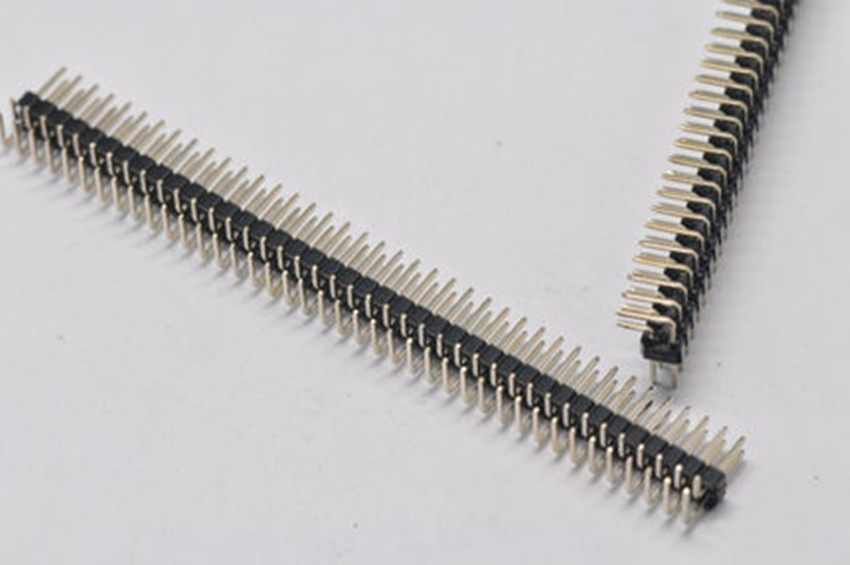 5PCS Pitch 2.54mm 2x40 Pin 80 Pin Double Row Right Angle Male Pin Header Strip Connector 50pcs pack 2 40 pin double row male 2 54mm breakable pin header copper right angle connector strip bending wholesale