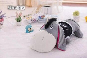 middle size plush donkey toy creative stuffed lying donkey pillow doll gift about 85cm