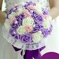 Искусственный невеста, холдинг букет Роз Корейский подлинной поддельные шелковые украшения цветы свадебный букет