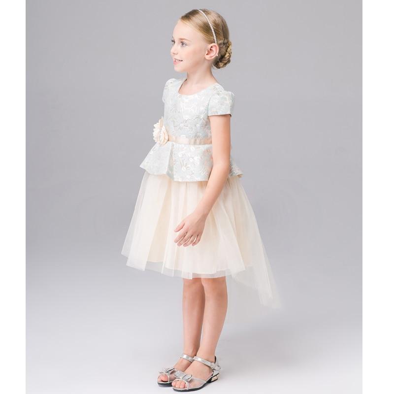 Designer Kid Bridesmaid Dresses 3 4 5 6 years Party Wedding Luxury Baby Girls Dress