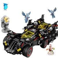 StZhou Batman 07077 1496Pcs Marvel Super Heroes Genuine Movie The Ultimate Batmobile Building Blocks Bricks Toy