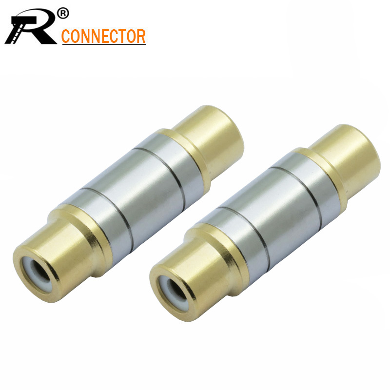 2pcs/lot Dual RCA Connectors High Quality RCA Female to Female Jack Socket Straight Adapter Gold Plated Speaker Audio Connector2pcs/lot Dual RCA Connectors High Quality RCA Female to Female Jack Socket Straight Adapter Gold Plated Speaker Audio Connector
