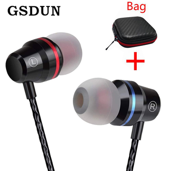 GSDUN Super Bass Earphone Headphones With Mic 3.5mm Sport Gaming Headset for Phones Xiaomi Samsung iPhone fone de ouvido MP3