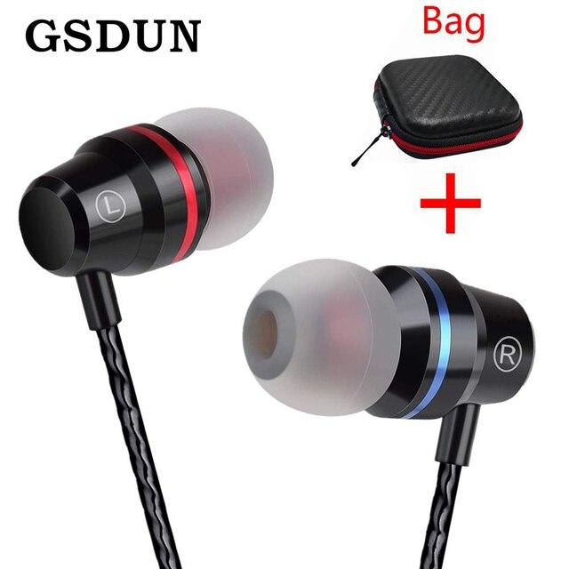 GSDUN Super Bass Наушники с микрофоном 3,5 мм Спортивная игровая гарнитура для телефонов Xiaomi samsung iPhone fone de ouvido MP3
