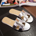 2017 New Arrival Brand Women's Summer Fashion Flat Slides Casual CC Shoes Flat Sandal Women Slippers Lady Sandals