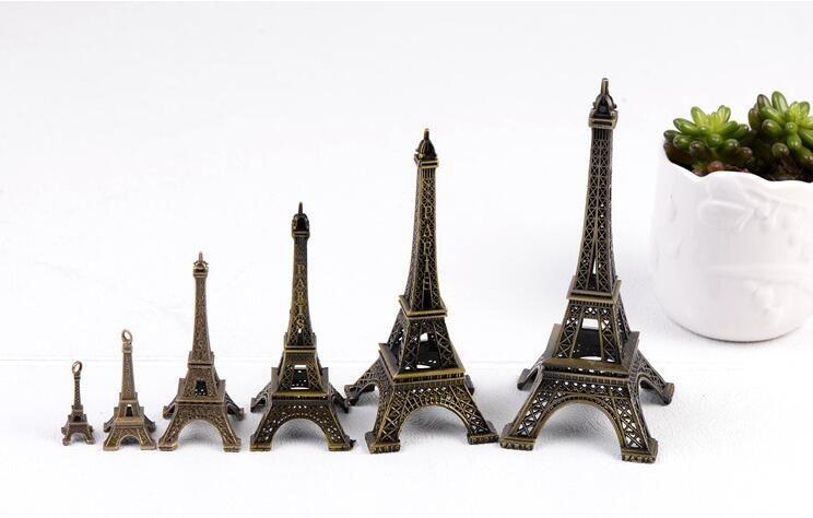 13CM Chic Metal Model Eiffel Tower Paris Souvenir Miniature Decor Ornament