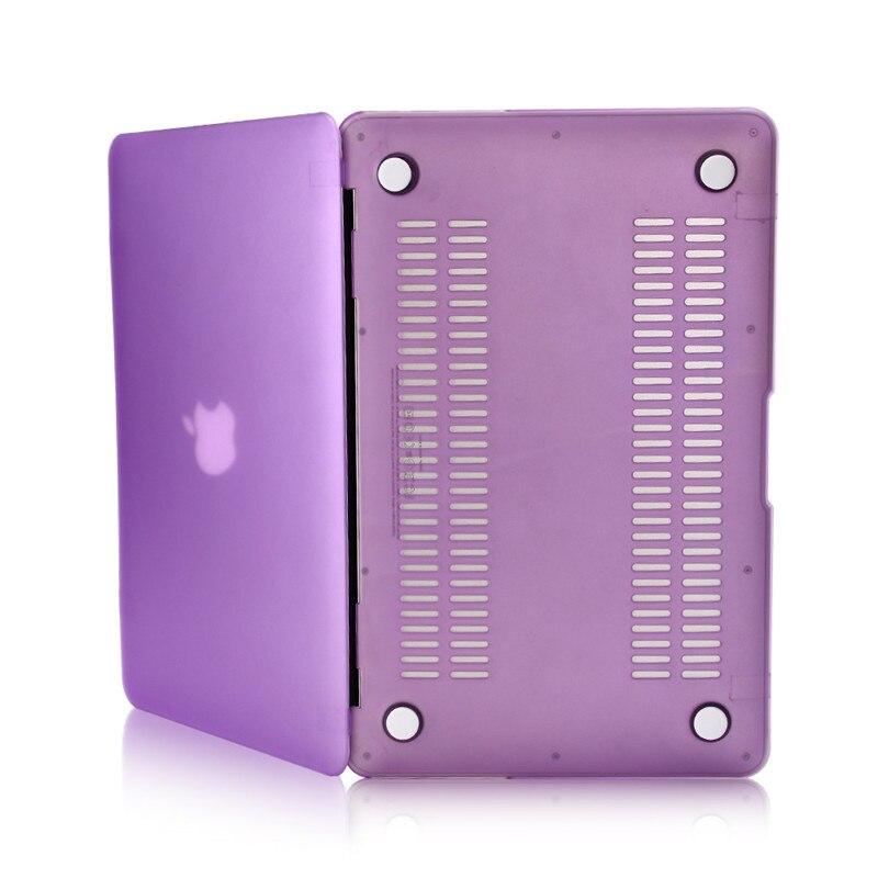for macbook pro 13 retina 15 air 11 12inch case full protect hard pc fashion color purple matte transparent laptop cases
